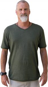 Rocky V Neck hemp T shirt