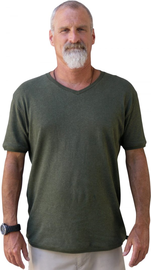 Rocky V Neck hemp T shirt