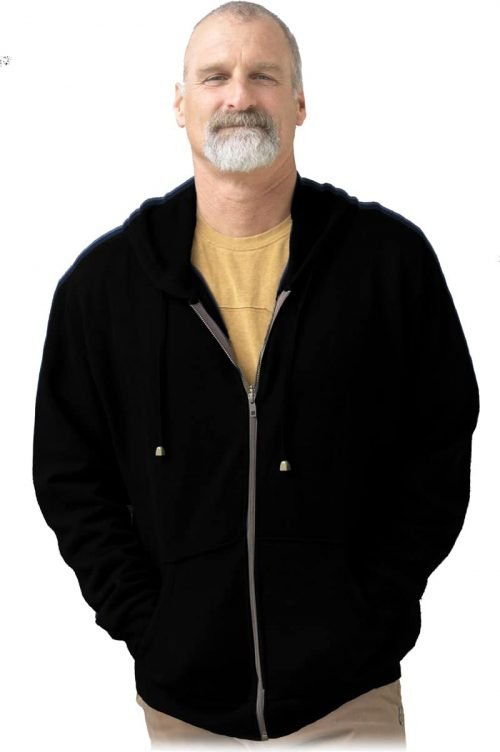 Black hemp hoodie