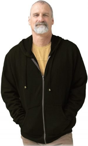 Black hemp fleece hoodie