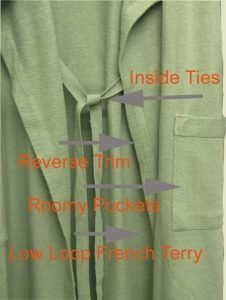 Unisex French Terry Hemp Spa Robe