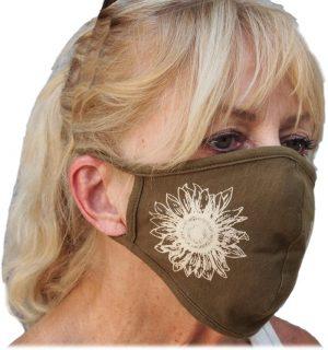 Sunflower print hemp mask