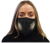 Black sunflower mask
