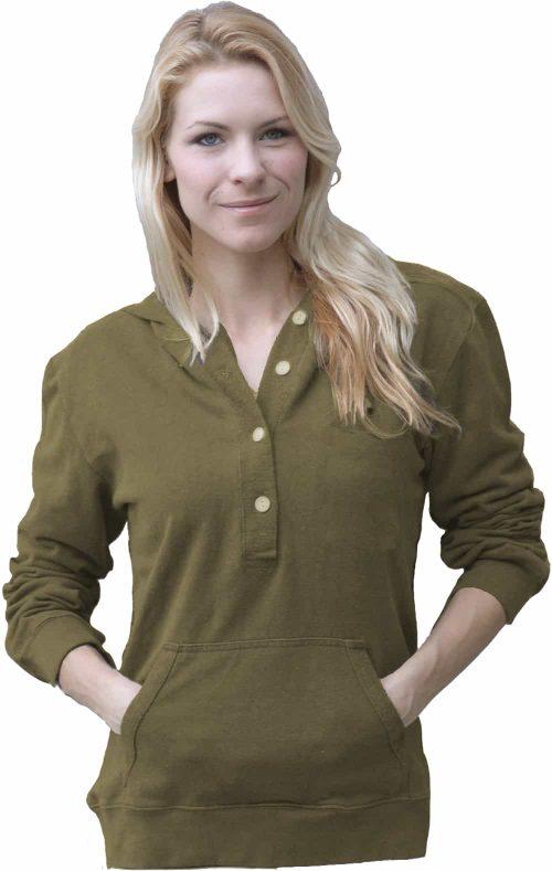 Olive hemp hoodie