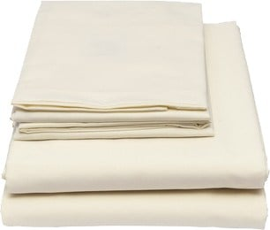 King 100% Hemp Bed Sheet Set + Two Pillow Cases