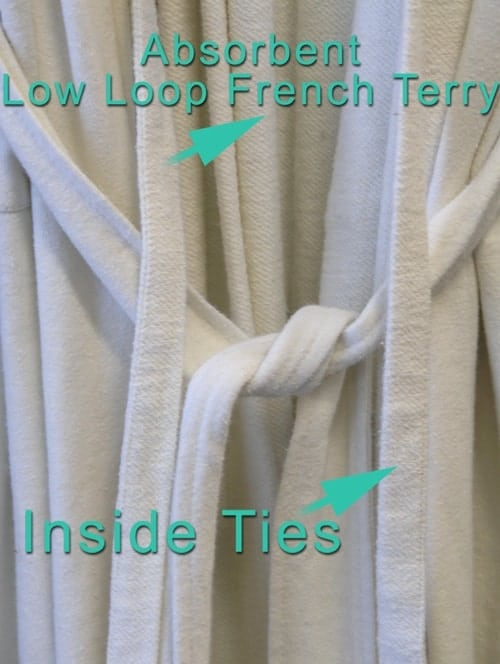 Unisex Hemp Spa Robe in low loop French Terry Hemp
